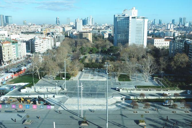 Gezi park og Taksim-plassen fremstår i dag som et generisk, betongbelagt ingenmannsland, midt i en by med 17 millioner innbyggere.
