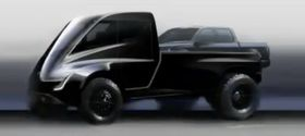 Pick-upen Tesla raskt viste frem under lanseringen av Semi og Roadster tidligere i år. Denne skal være basert på Semi-designet, noe også Musk har snakket om på Twitter tidligere, men vil sannsynligvis være betraktelig større enn en Ford F150.