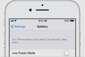 Ser du denne beskjeden på mobilen din bør du vurdere å skifte batteri.