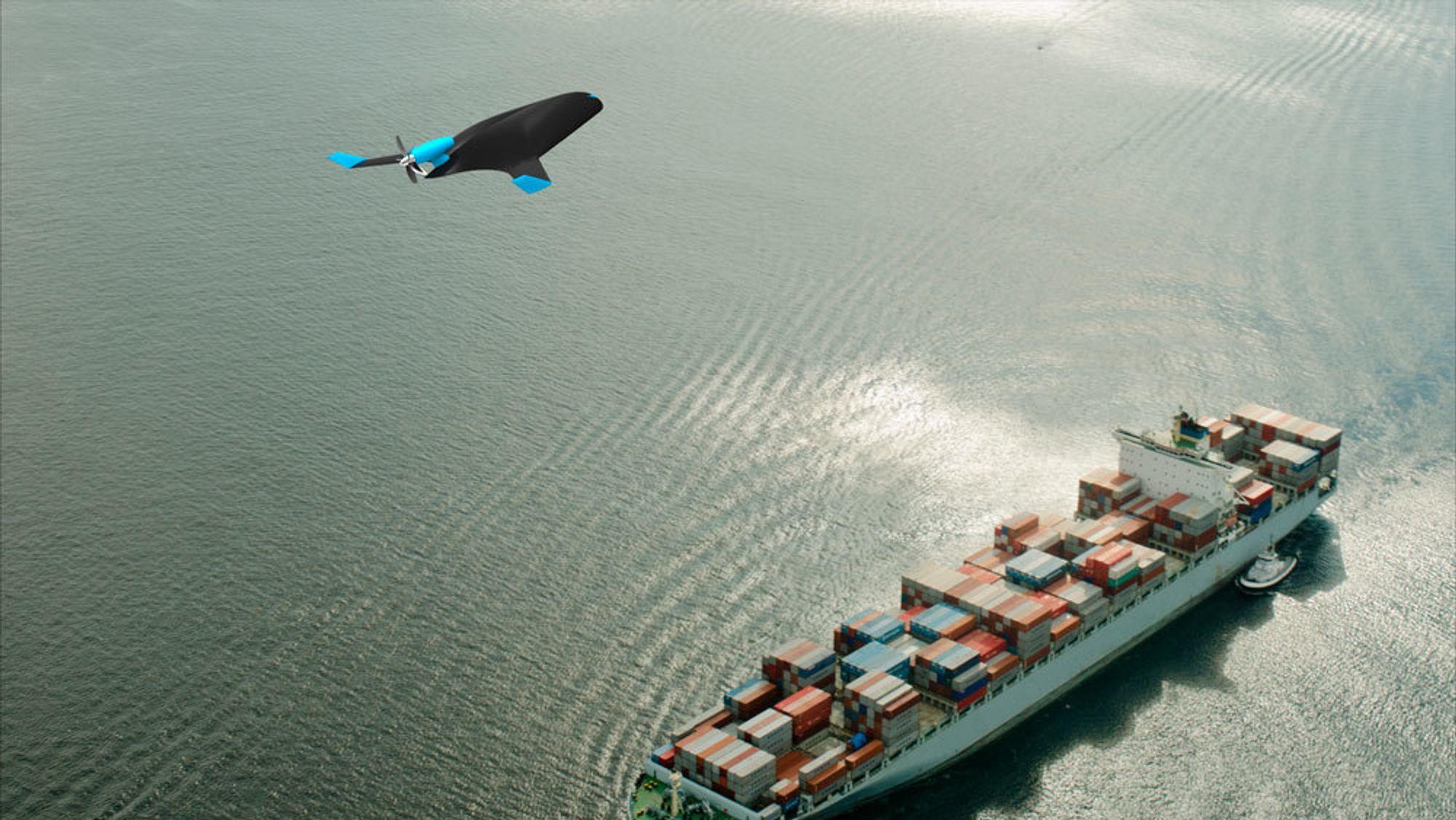 Amerikanske Natilus jobber med å utvikle autonome fraktdroner som blant annet skal kunne lade på vann.