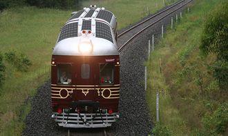Toget ble satt i drift 16. desember, og har fem daglige avganger. Toget bruker ti minutter fra første til siste stasjon.