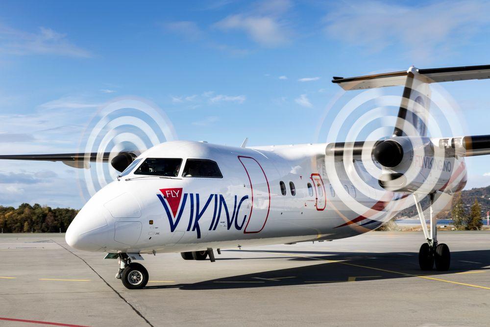 FlyViking på Værnes lufthavn. Nå innstiller selskapet driften.