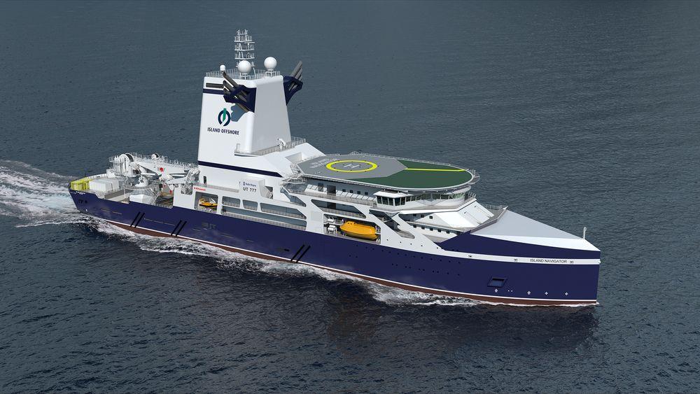 Rolls-Royce har designet UT 777 CD, spesialskip for subsea brønnintervensjon og topphullsboring. Nå ser det ikke ut til at det vil bli bygget med det første. Island Offshore og Kawasaki er enige om å terminere kontrakten fra 2013/2014.