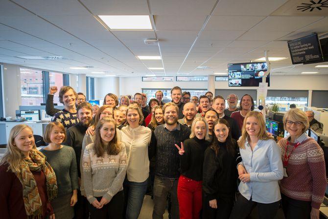 Dagbladets ansatte jubler over å ha fått en makeover på fronten.