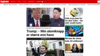 Faksmile fra Dagbladet.no.