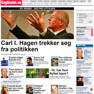 Faksmile fra Dagbladet.no i 2008.
