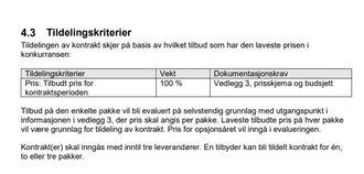 Ingen tvil om at miljøkriteriet er utelatt i Samferdselsdepartementets anbudskriterier for kystruten.