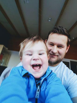 Zbigniew Wantuch og sønnen Hugo (1).