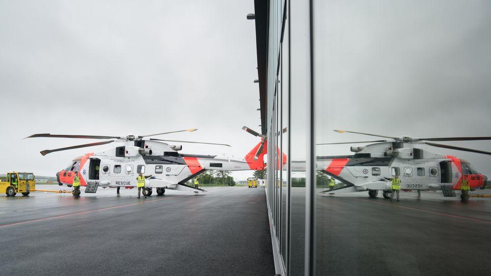 Dette helikopteret, som første gang var i Norge i juni 2017, ble levert fra fabrikk 19. januar. Men det kommer allikevel ikke på Oslo-besøk torsdag i forbindelse med hertugbesøket.
