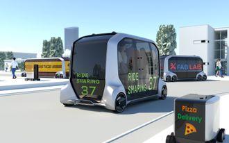Toyota-konseptet e-Palette skal kunne tilbys alle som har behov for selvkjørende kjøretøy i sin virksomhet.