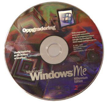 Oppgraderings-CDROM for Windows ME.