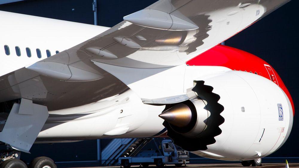 Rolls Royce-motoren til Norwegians Boeing 787-9 Dreamliner fly