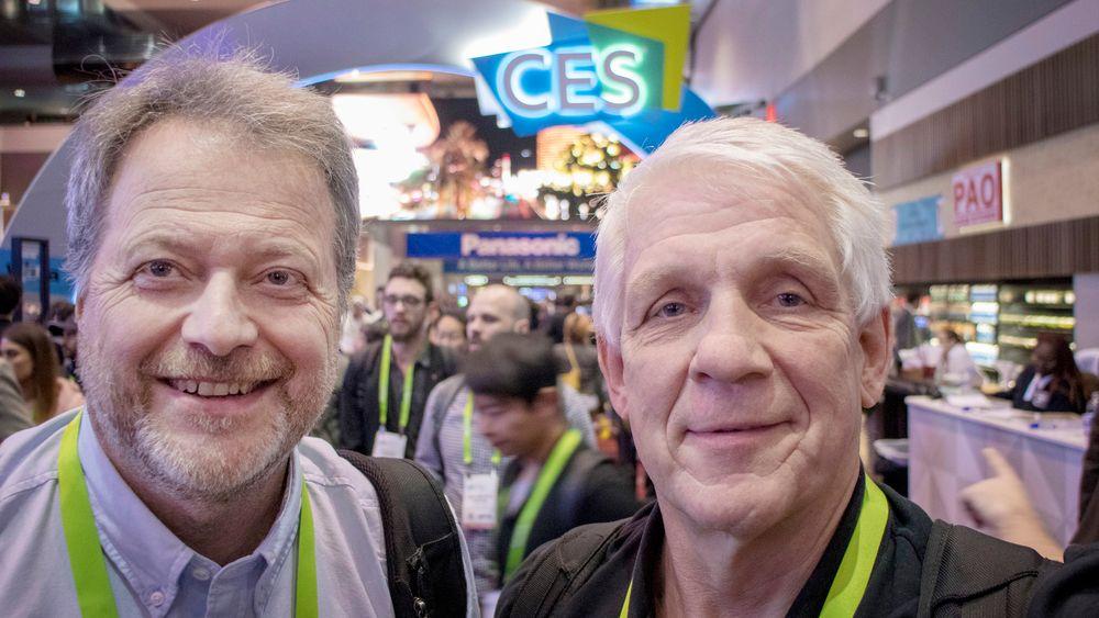 Jan M. Moberg og Odd Richard Valmot på CES i Las Vegas.
