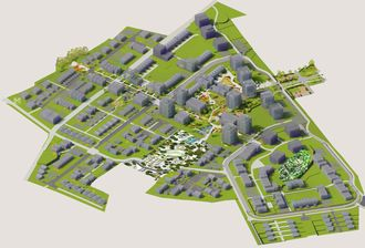 3D-illustrasjon av Sørby-Virik i Sandefjord. Illustrasjon: Linda Blom Design & Arkitektur.