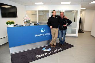 Team verksted skal stå for mesteparten av verkstedtjenestene DAF-eiere i Norge trenger. Thomas Schiøtz (t.v.) er adm. direktør i Team Verksted. Tor Anders Andersen er avdelingsleder for Team Verksted Follo som ligger på Langhus, på samme adresse som Team Verksteds hovedkontor.