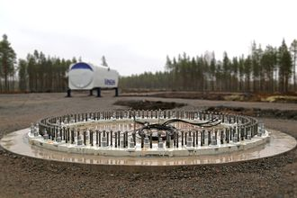 Fundament til vindturbin.