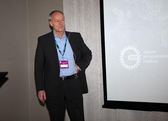 Prosjektleder Karl Sigurd Fredriksen i Vegdirektoratets byggherreseksjon på Arctic Entrepreneur 2017.