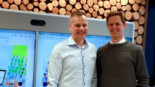 Fra venstre: Leif Sundsbø, Cyber Security Partner Account Manager, og Sven Størmer Thaulow, administrerende direktør i Cisco Systems Norway.