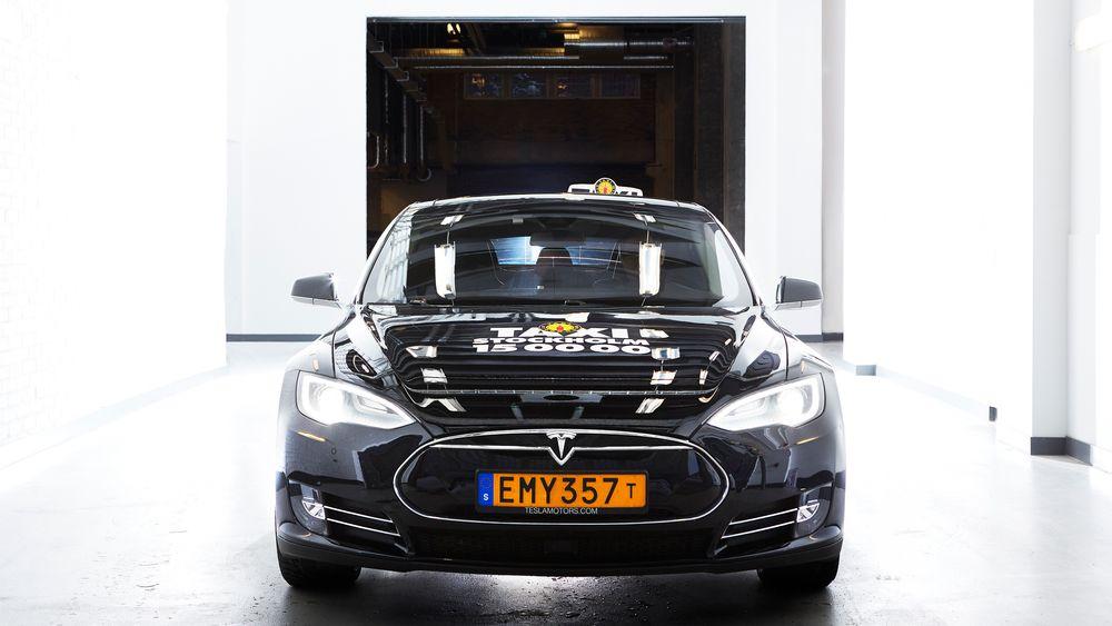 Teslabilene dro i snitt mest inntekter fra taxivirksomheten, viser en svensk studie mellom ulike biltyper.