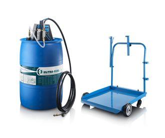 Ultra-Seal fåes også i tønneversjon med automatisk pumpe og tralle.