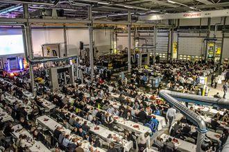 Den offisielle åpningen av det nye anlegget gikk over to dager. Dag to var det ca. 1100 personer innenfor portene.