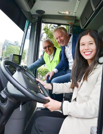 Lan Marie Nguyen Berg (byråd for miljø og samferdsel i Oslo), Pål A. Sommernes (Direktør, Renovasjonsetaten og Jonny Enger (Daglig leder, Veireno).