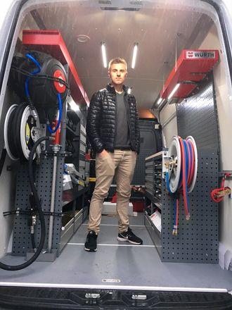 Martin Hauge er mannen som skal betjene HMF-kundene i Bergens-området.