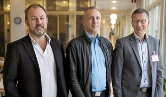 Fra venstre; Logistics Manager Jula Lennart Karlsson, Customs & Freight Manager Jula Pietro Montebov, og Managing Director Collicare Gothenburg Magnus Yverås.