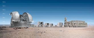 Teleskopet kan sammelignes med Colosseum i størrelse.
