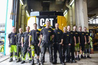 Pon Equipments klargjøringsteam på selskapets hovedkontor i Brobekkveien i Oslo med Morten Hansen, sjef for klargjøring, i spissen.