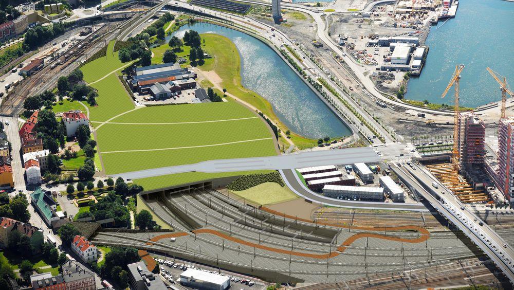 Follobaneprosjektet skal gi dobbeltspor mellom Oslo og Ski og tilrettelegge for halvert reisetid. Nå trues fremdriften av av entreprenør Condotte er i finansielle vanskeligheter.