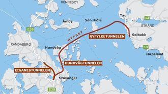 Ryfast knytter Stavanger sammen med Ryfylke.