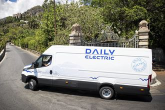 Iveco Daily Electric lansert des 2016. Prototyper fotografert på Scicilia sommeren 2014.