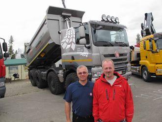 Einar Gullesen (t.v.) og Jarl Tore Johansen står bak det nye importselskapet Tatra Norge AS.