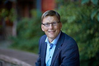 konsernsjef i AF Gruppen, Pål Egil Rønn, kunne presentere en kvartalsrapport med rekordomsetning fredag.