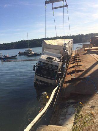 Det ble fisket latvisk vogntog sør for Stockholm i helgen.