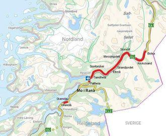 Det skal bygges totalt 62 km vei i prosjektet Helgelad Nord.