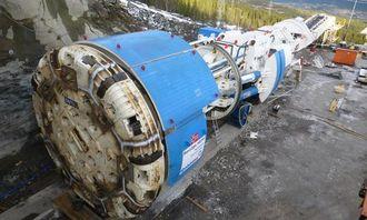 TBM-en er tilbake i norsk natur. Her er Robbins-maskinen på 600 tonn klar til å
