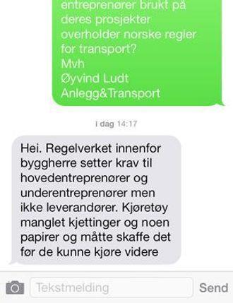 Statens vegvesens svar i sin helhet.