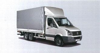 En 5-tonns Crafter påmontert en tredje aksel gir en totalvekt på 7,5 tonn. Et planpåbygg med kapell på 4,6 meters lengde og bakløfter med kapasitet på 1000 kg gir en nyttelast på ca. 3.750 kg, som er svært bra for en 7,5-tonner. Bilen kan også trekke en henger på inntil 3,5 tonn.