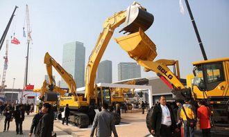SDLG er store på det kinesiske markedet. Her fra Bauma China i Shanghai forrige uke.