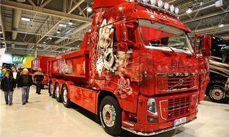 Richard Jakobsson sin røde godbit av en Volvo FH16 kom på tredjeplass i Scandinavian Truck Trophy 2012.