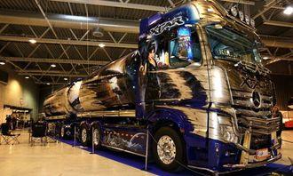 Denne Mercedesen med adresse Finland ble folkets favoritt under Scandinavian Truck Trophy 2012.
