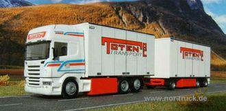 Jörg Huhn har laget flere modeller av biler fra Toten Transport, som jo har et litt uheldig navn på tysk.