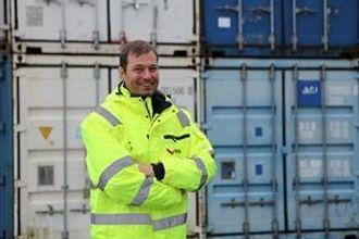 Teknisk sjef Torben Beck i BNS Container.