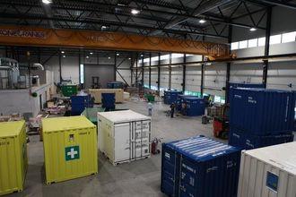 Det nye verkstedet er dimensjonert og utstyrt for å kunne ta alle container-jobber.