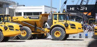 Dumperen av typen Volvo A40Ffs går på demoområdet på Bauma-utstilingen i München. Til sommeren kommer de til Espa og Sokna.