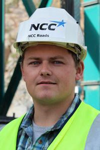 Produksjonssjef Einar Haugen i NCC Roads.