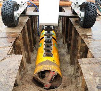 Pipe Express er i startgropa som system og ligger her rent fysisk i stargropa før en installasjon.