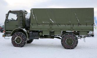 Det var også mulighet til å prøve Scania P93 4x4 i Trysil-terrenget på Scania Winter 2013.